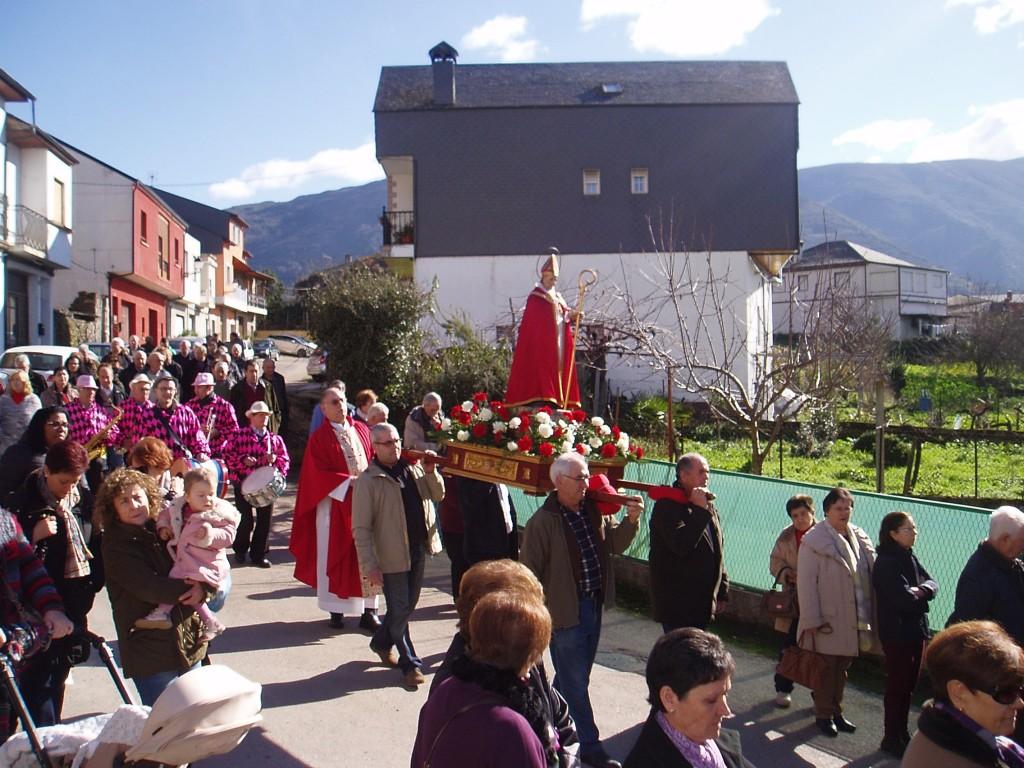 Procesión de San Blas en Vilela