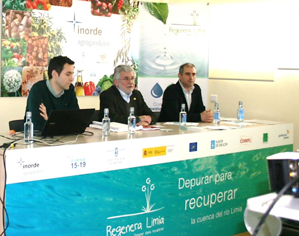 Rosendo Fernández, na reunión do Proxecto Life Regenera Limia