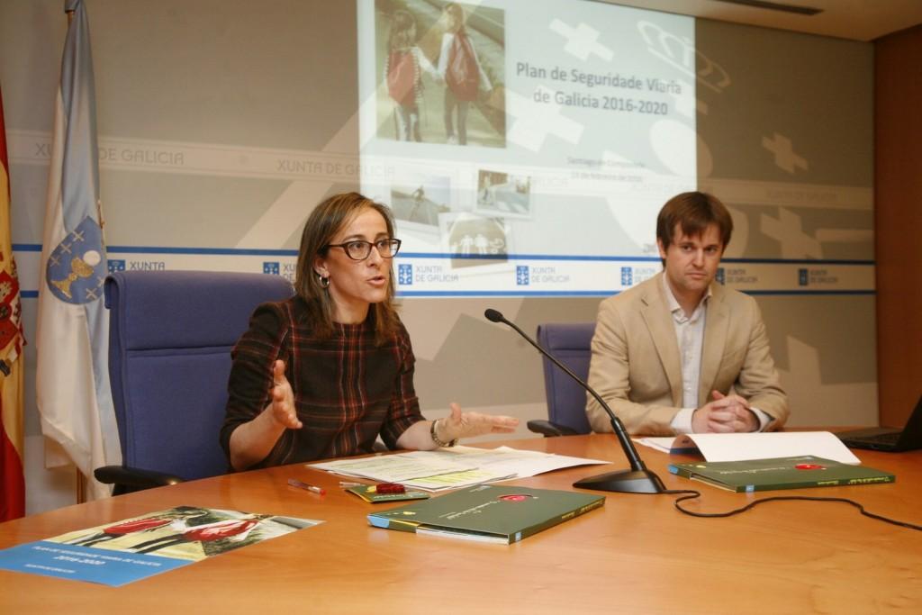 A conselleira de Infraestruturas e Vivenda, Ethel Vázquez, presentou onte as actuacións do Plan de Seguridade Viaria 2016-2020, entre as que destaca a campaña 'O corazón está do teu lado'