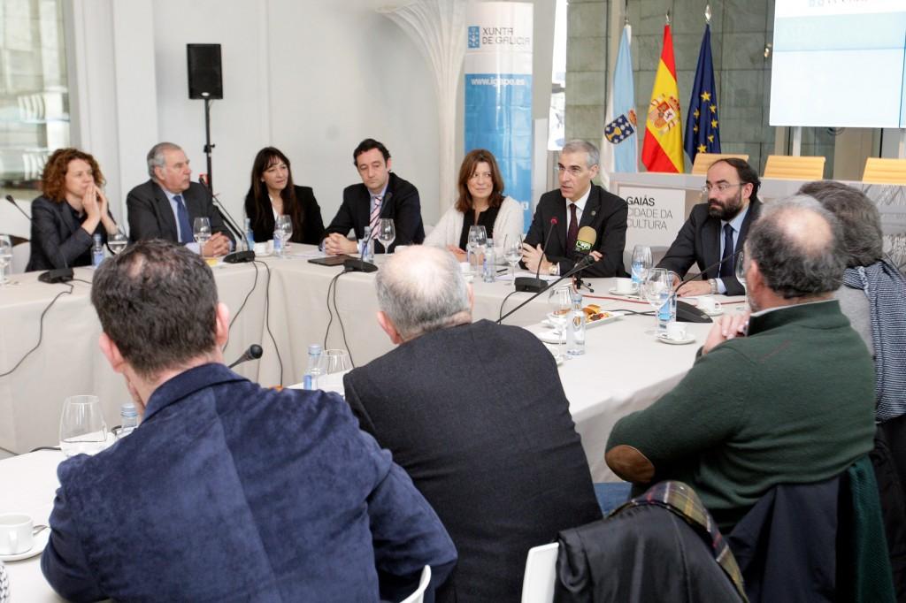 El conselleiro de Economía, Empleo e Industria participó en la presentación del plan de promoción internacional de los vinos y licores gallegos  Autor: Conchi Paz