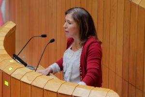 Beatriz Mato en el Pleno del Parlamento  Autor: Xoán Crespo