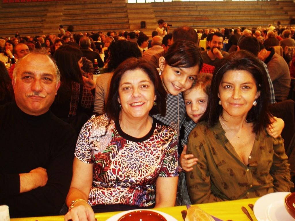 Una de las familias
