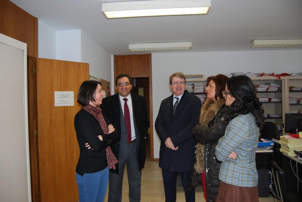 Marisol Díaz Mouteira visitou esta mañá o edificio do xulgado de Xinzo de Limia
