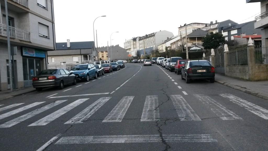 Alumbrado público de la travesía de Viana