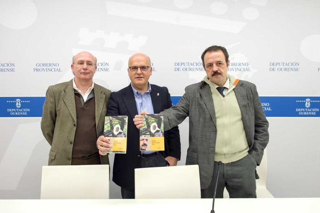 Carlos Lema, Manuel Baltar e Xavier Queipo