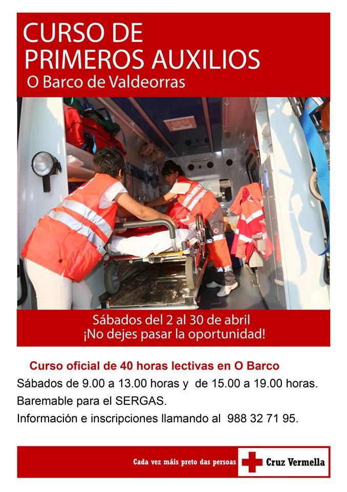 Cartel del curso de primeros auxilios