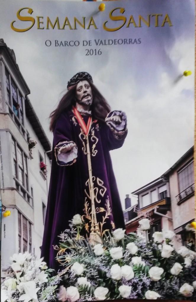 Cartel que anuncia la Semana Santa en O Barco