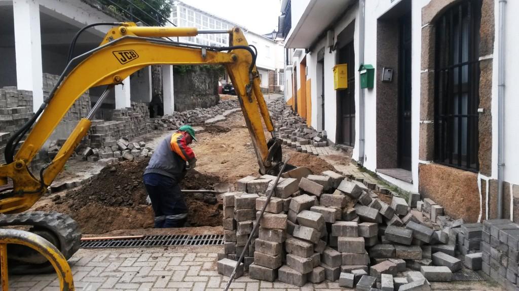 Excavando en la calle