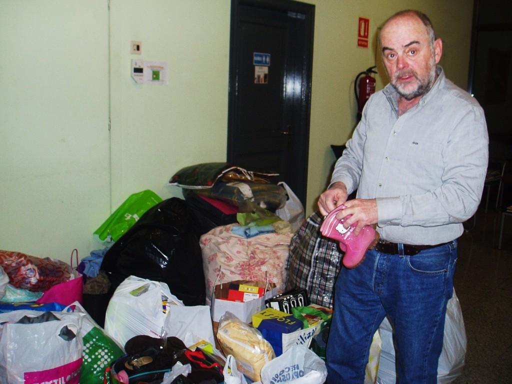 Félix García, de Riada Cidadá, organizó la recogida