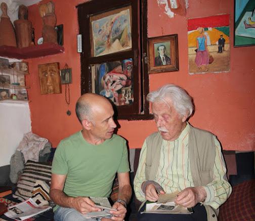 Luis Enrique Rodríguez Arias (izquierda) y el pintor Jesús Díaz Ferrer