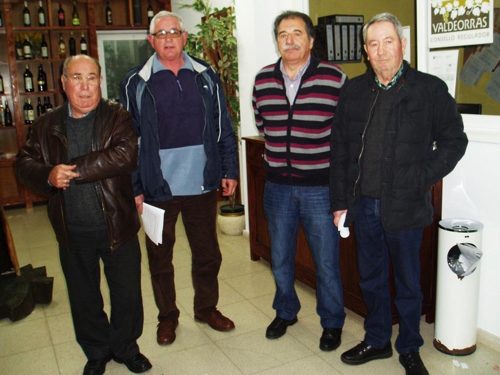 Manuel Fernández, Evaristo García, Domingo Fidalgo y Carlos Aristegui,  al finalizar el pleno del Consello