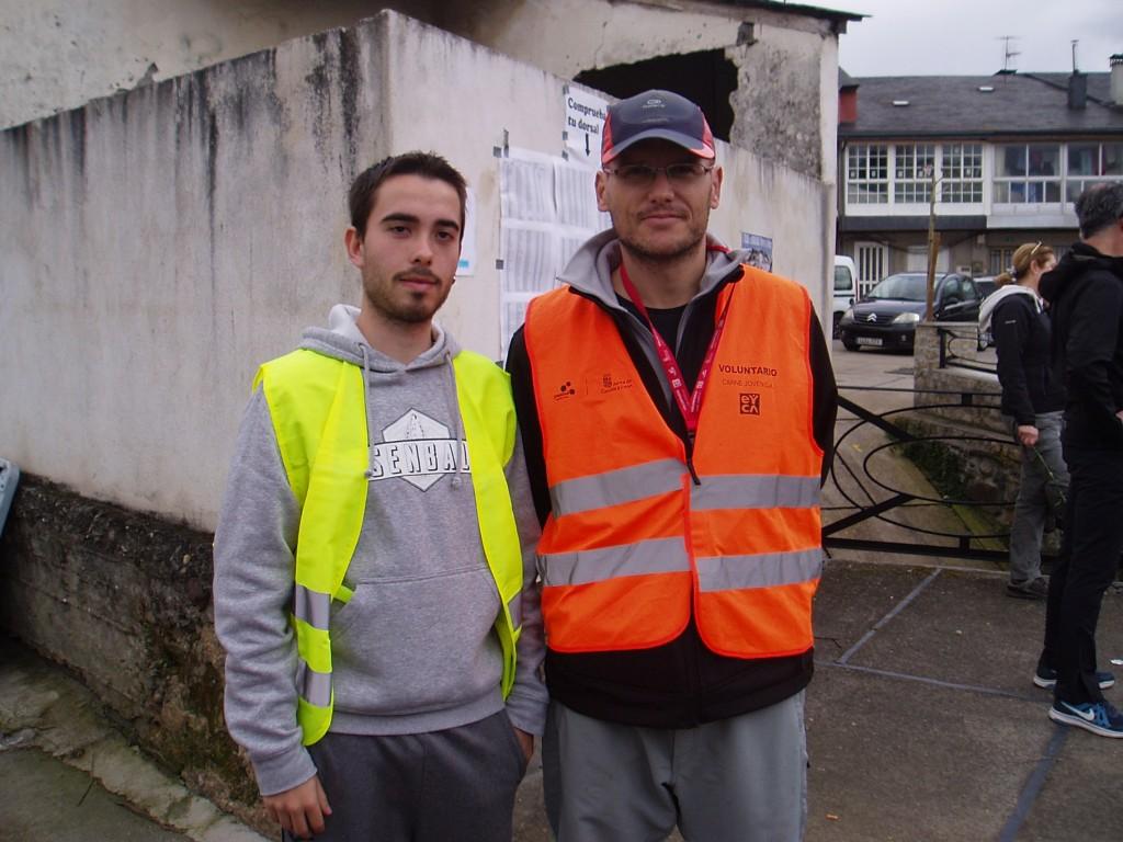 Presidente y Vicepresidente del Club de Atletismo de A Rúa, Iván y Fernando