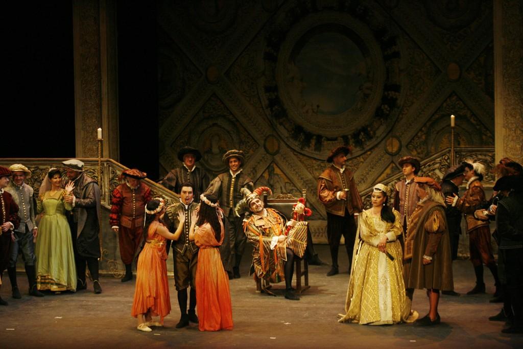 representacion de la opera rigoletto en el quijano