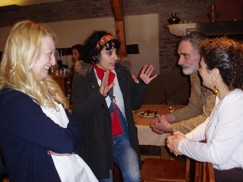 Rosa Martínez, Nolín Prieto, Nacho Martínez y Rosa García Machado