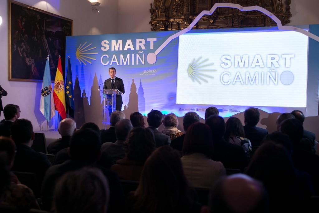El titular de la Xunta presidió esta mañana a presentación de Smart Camino Autor: Xoán Crespo