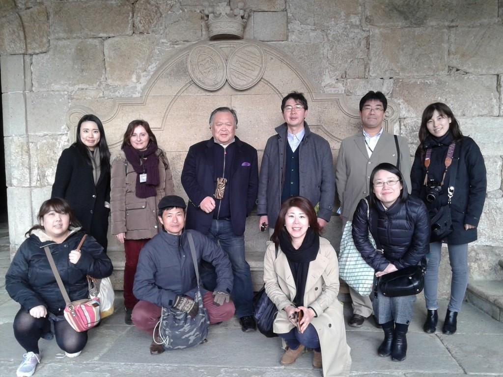 Un grupo de siete representantes de los operadores turísticos más importantes de Japón visitaron estos días el territorio gallego