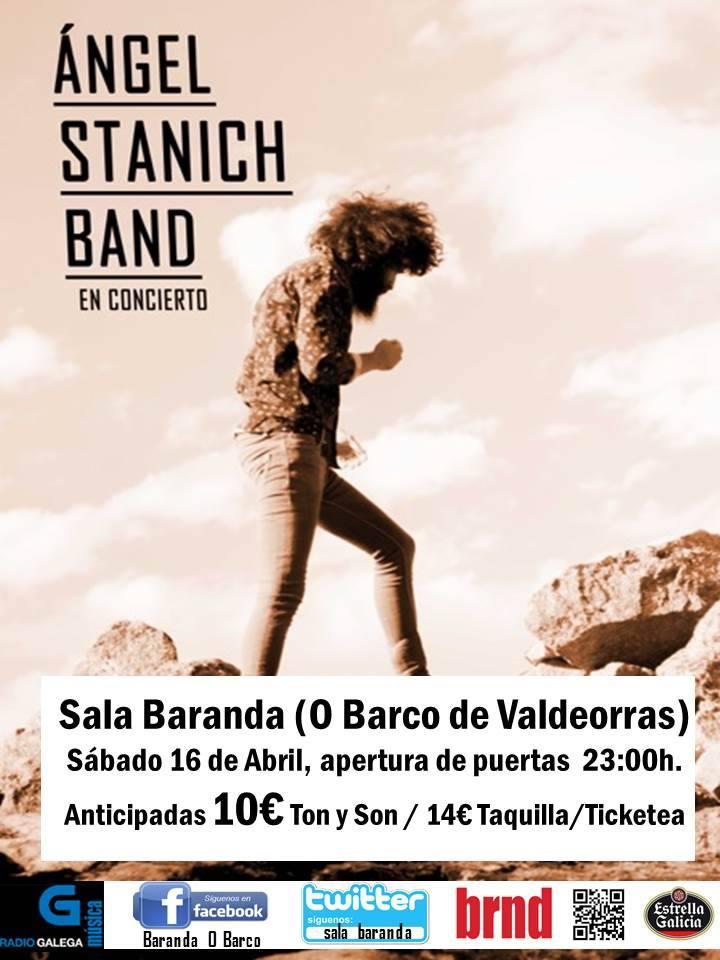 Cartel del concierto de Ángel Stanich