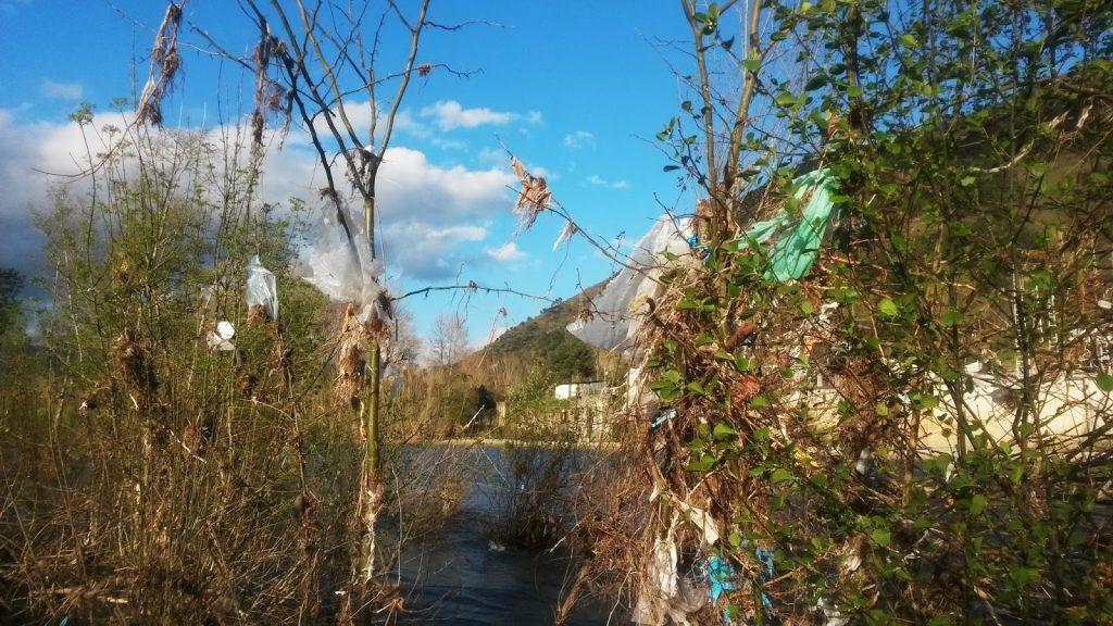 Bolsas de plástico río Sil