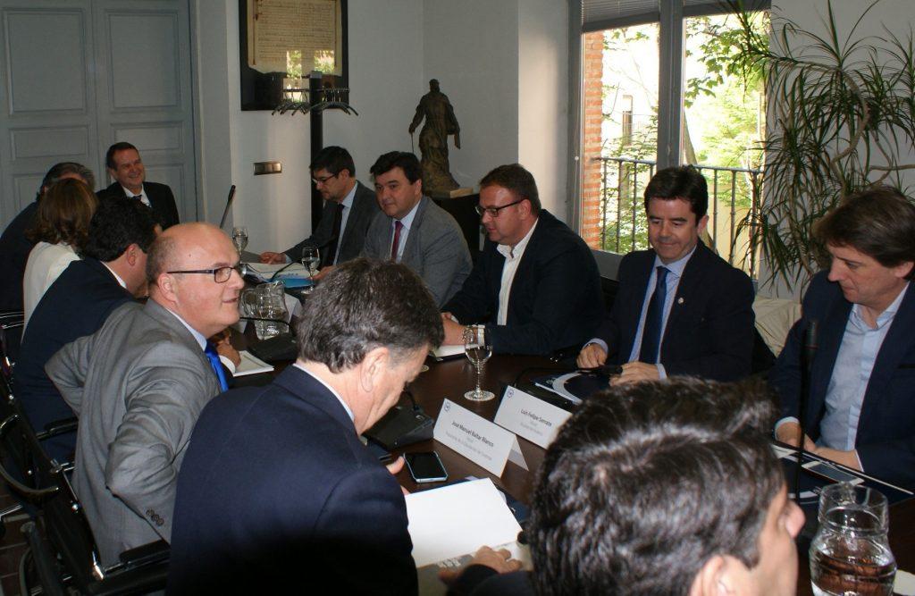 Manuel Baltar, na reunión onte da Xunta de Goberno da FEMP