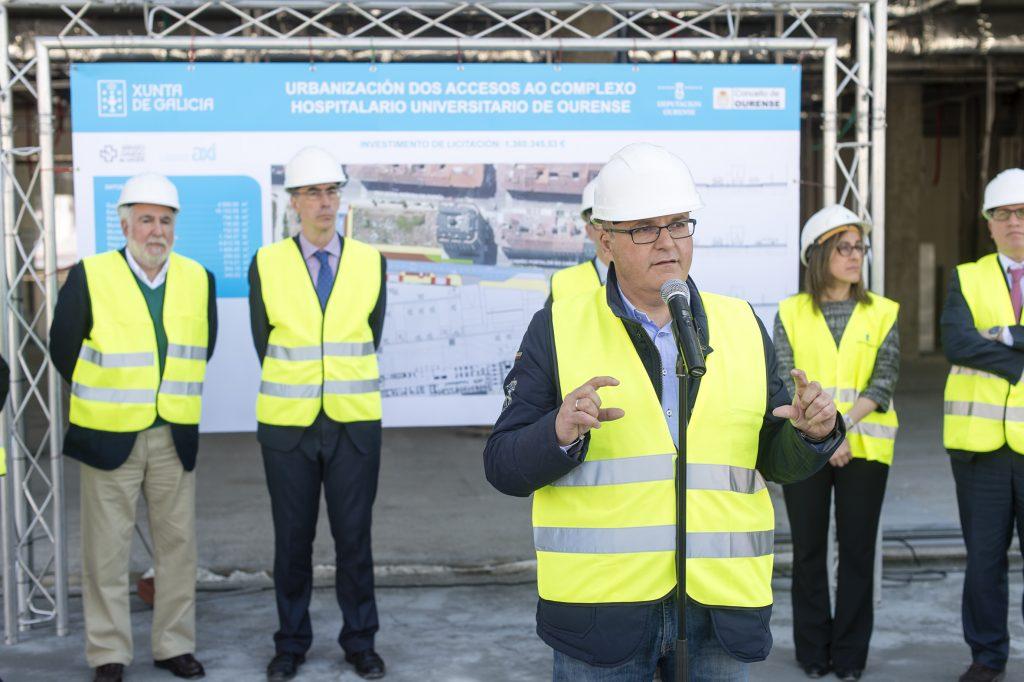 Manuel Baltar, na súa intervención no acto de visita ás obras do CHUO