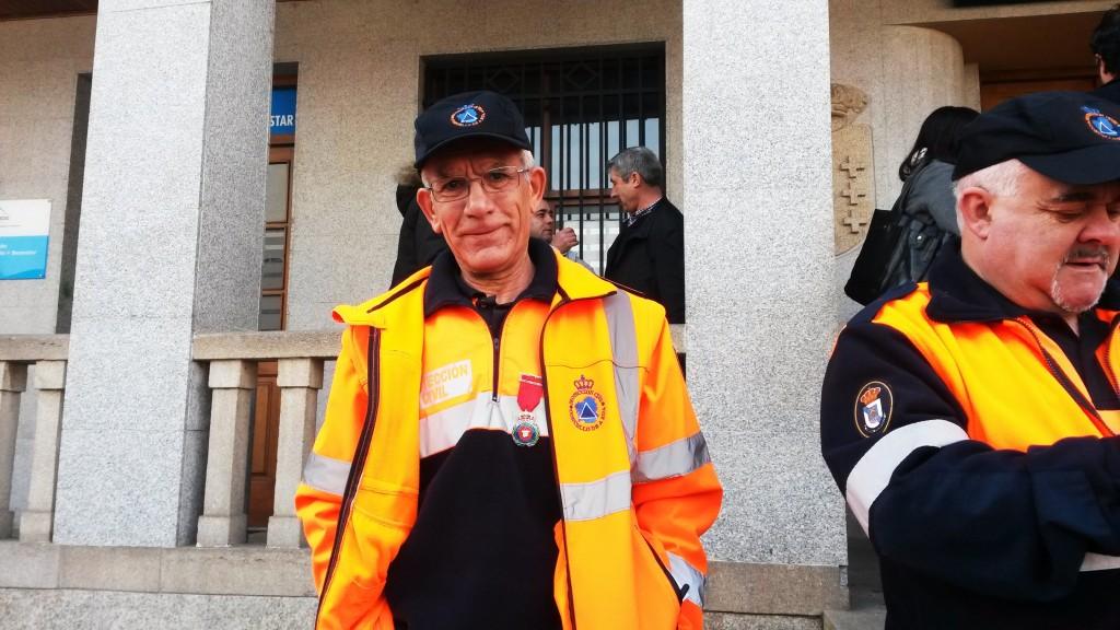 Manuel Rodríguez Ortega, presidente de la agrupación de Protección de A Rúa y David López, el fundador