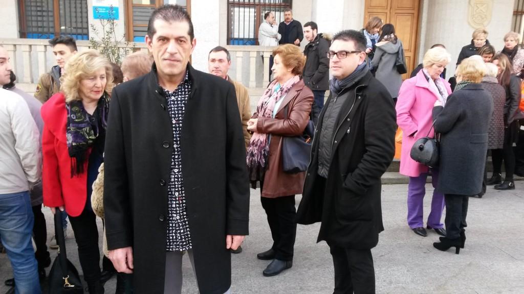 Moncho Díaz con sus compañeros de A Ruada