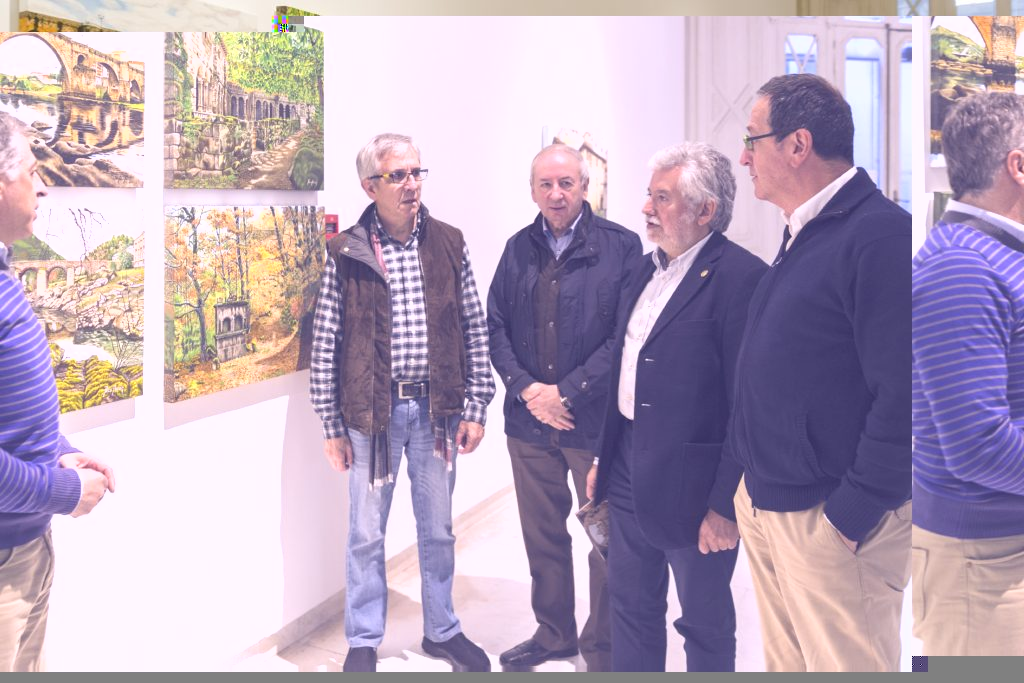 Presentación da exposición Ourense é arte, de Paco Ascón