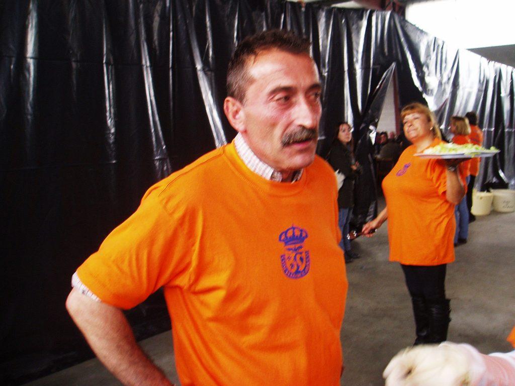 Alberto Méndez , teniente alcalde en una de las primeras fiestas del Cordeiro