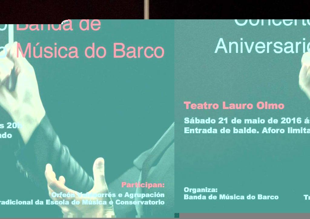 Cartel del concierto de la Banda