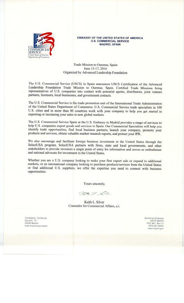 Certificación misión USA