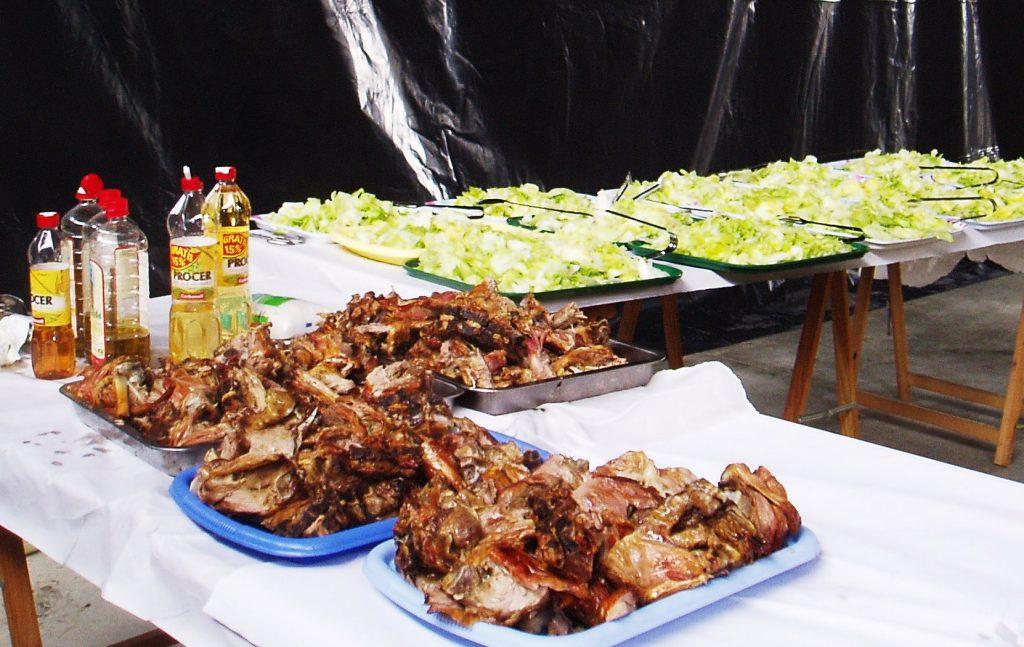 Cordero y ensalada en otras ediciones de la fiesta