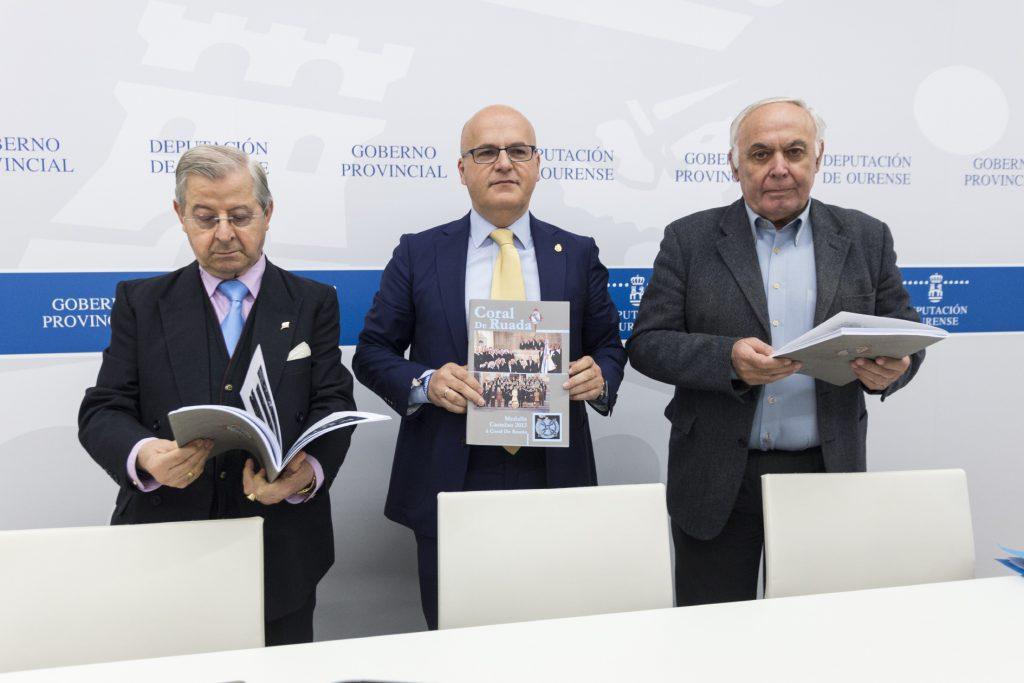 Eladio Quevedo, Manuel Baltar e Samuel Lago.