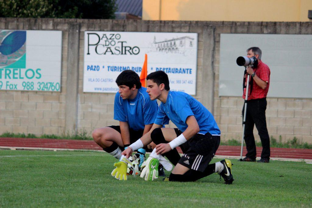 Iván y Alberto durante una de las pretemporadas del CD Barco