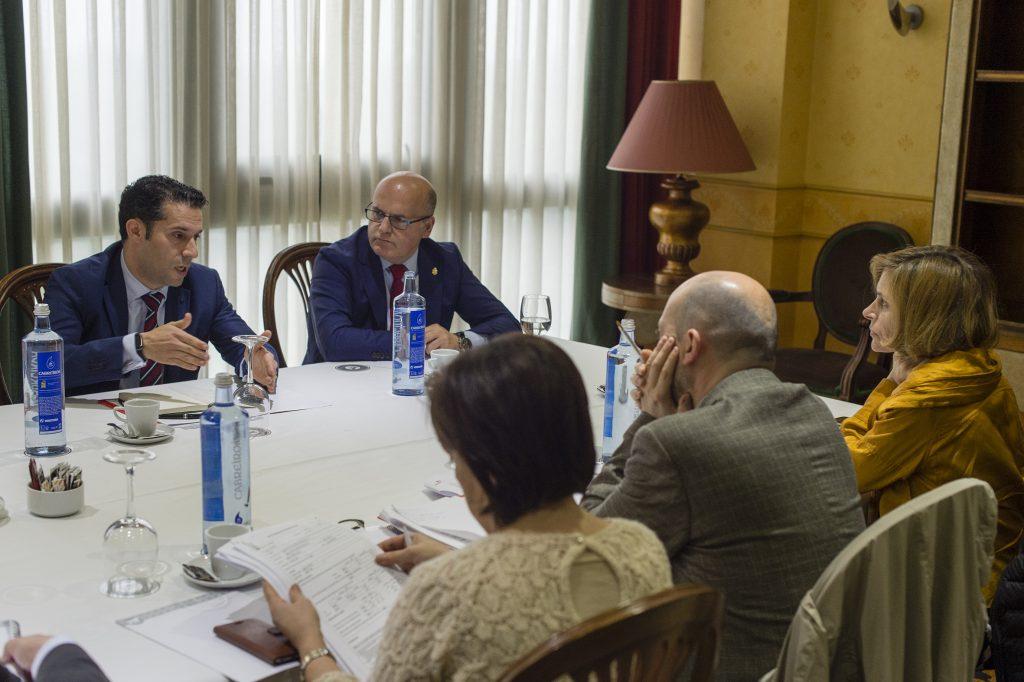 Manuel Baltar, hoxe, na reunión de MEISA.