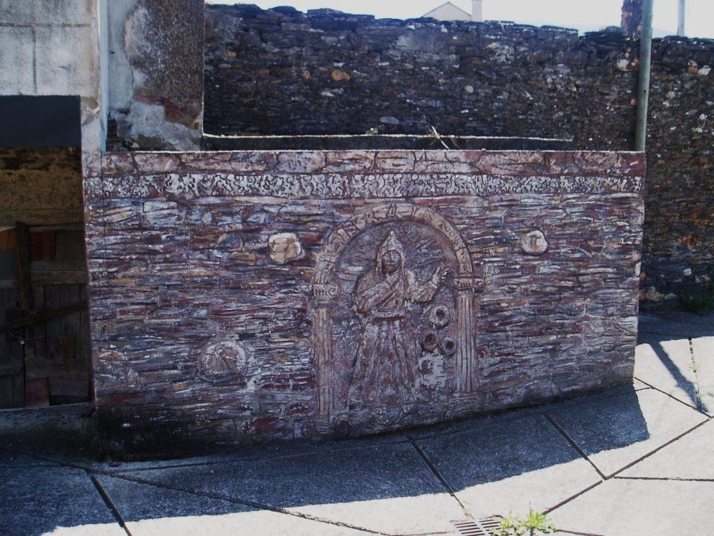 Mural en la fuente de Vilela