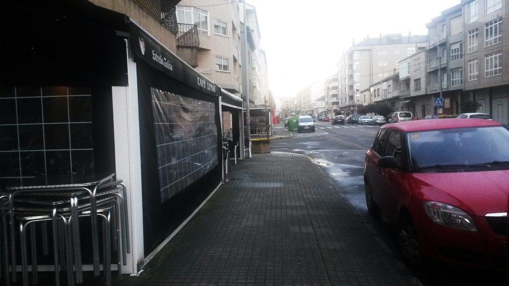Zona de cafeterías y terrazas en A Rúa