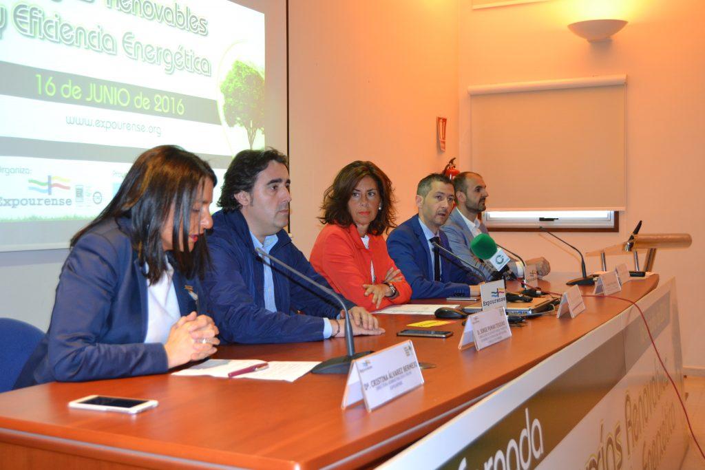 La delegada territorial en Ourense, Marisol Díaz Mouteira, participó en la inauguración de la X Jornadas sobre Energías Renovables y Eficiencia Energética organizada por Expourense