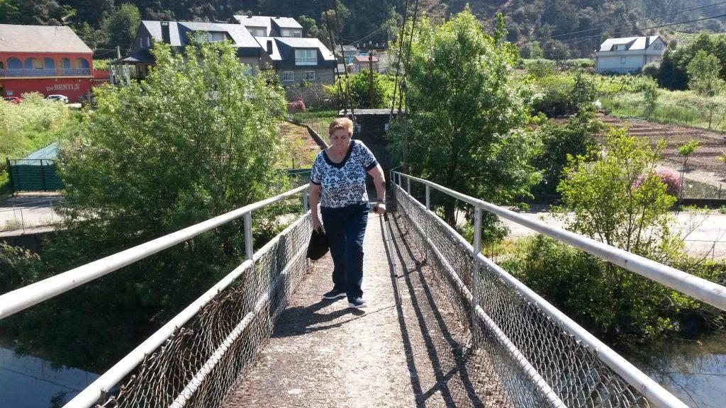Acceso a la pasarela de Penouta desde Vilamartín