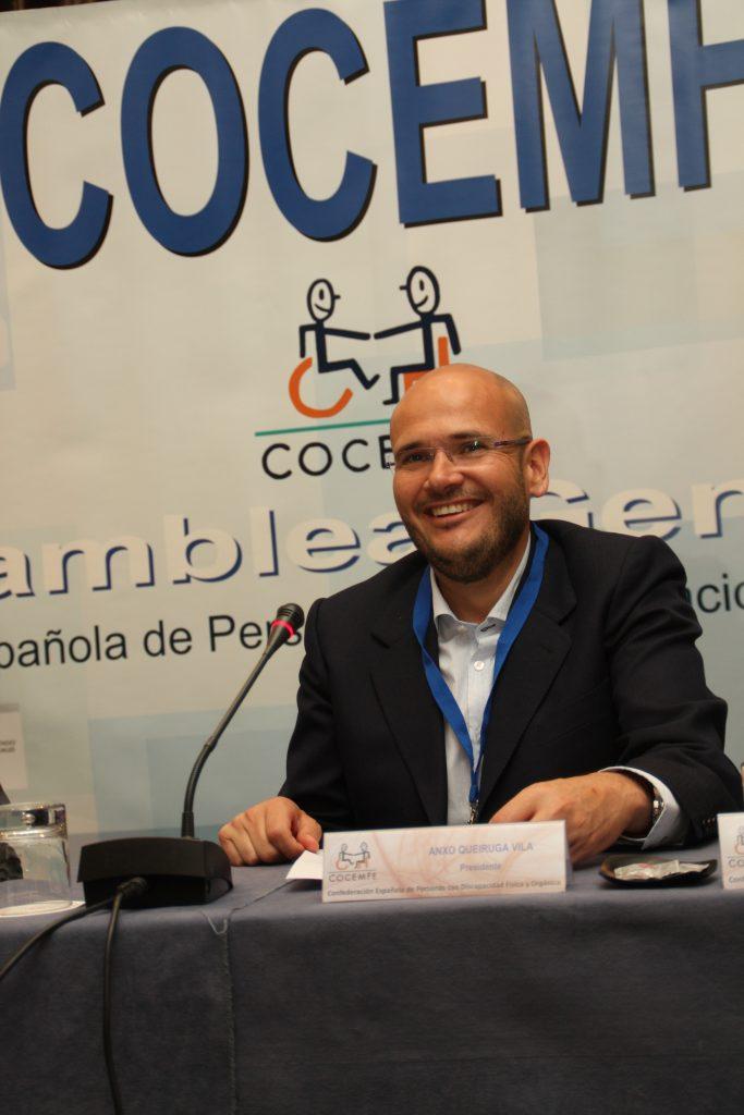 Anxo Queiruga, novo presidente de COCEMFE