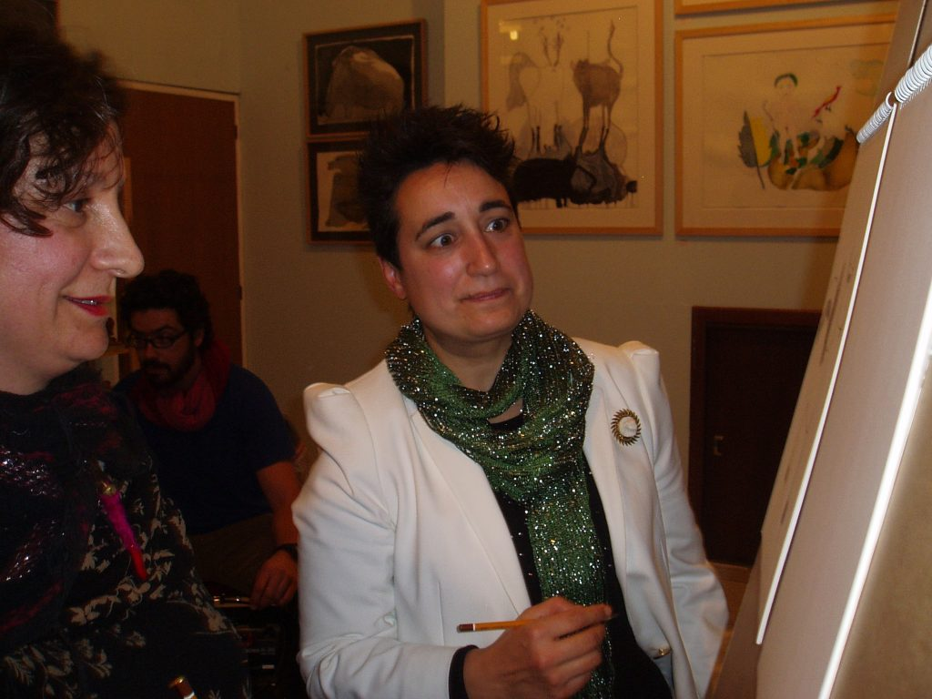 Bea Romarty con Reme Remedios, artista invitada a la jornada Raku
