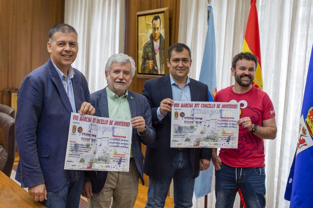 Bernardino González, Rosendo Fernández, José Luis Suárez e Marcos Meno