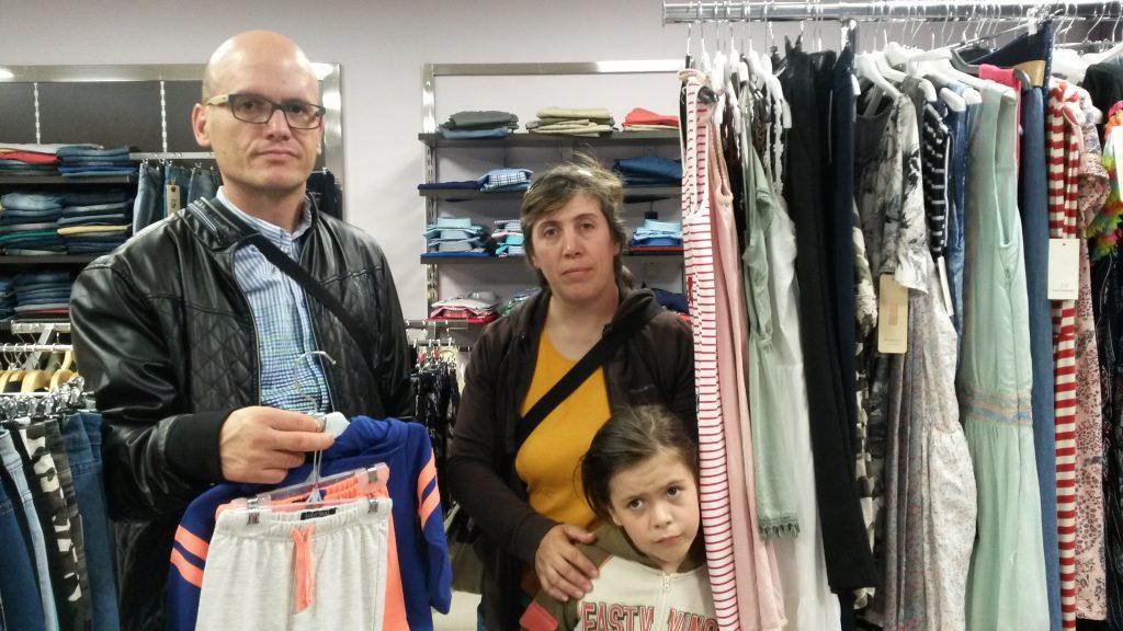 De compras con su hija