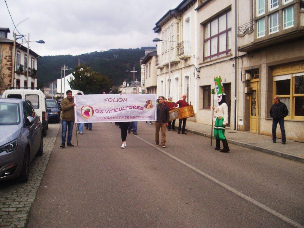En Vilamartín, durante el Entroido