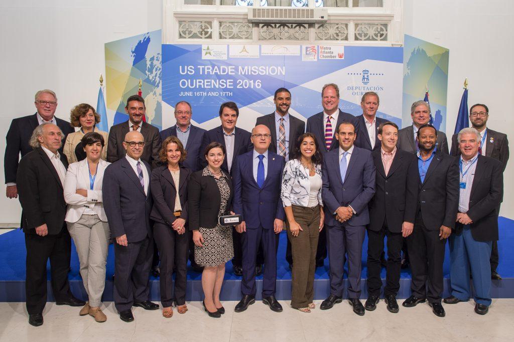 Recepción de Manuel Baltar en Ourense ás empresas da misión USA