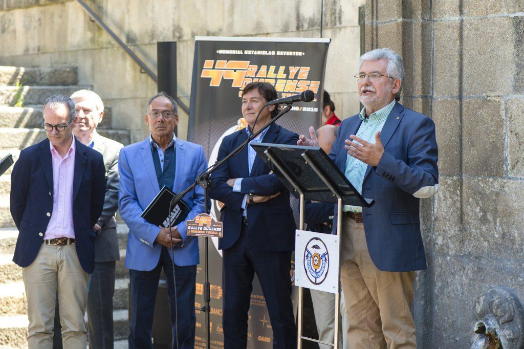 Rosendo Fernández na presentación do 49 Rallye Ourense Termal
