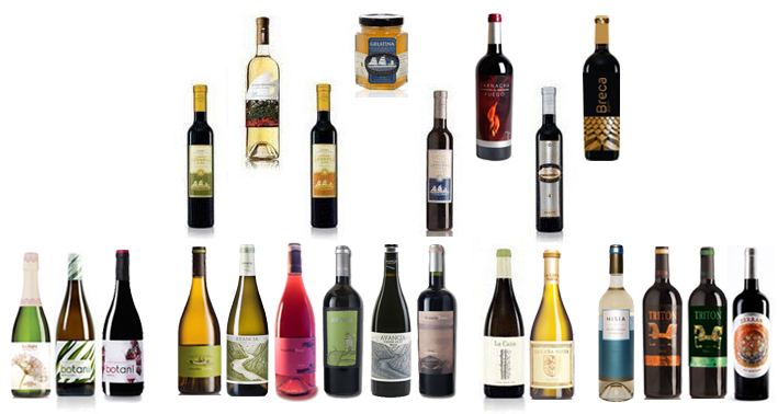 Collage de vinos del Grupo Jorge Ordoñez