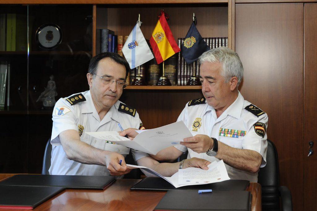 El responsable de la UPA y de la Policía Nacional en Galicia firmaron un protocolo operativo para la coordinación de actuaciones y la cooperación entre ambos cuerpos