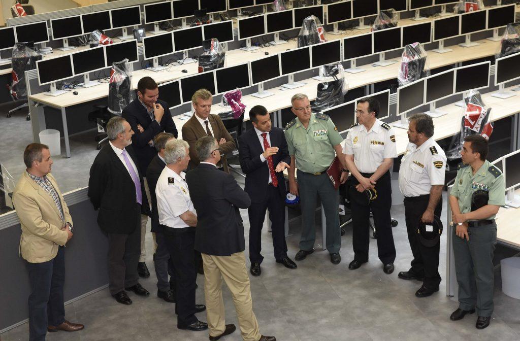 Alfonso Rueda y Santiago Villanueva visitaron las instalaciones junto con los responsables de la Policía Nacional, Guardia Civil y Policía Autonómica