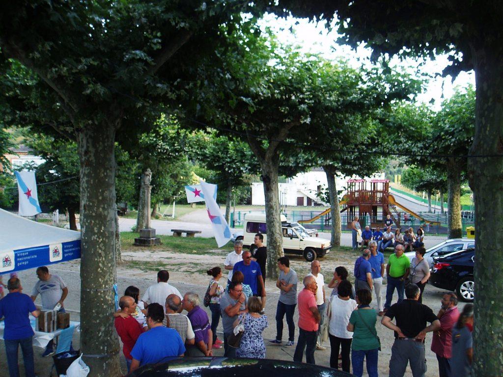 A piques de escomenzar a romería da Festa da Patria