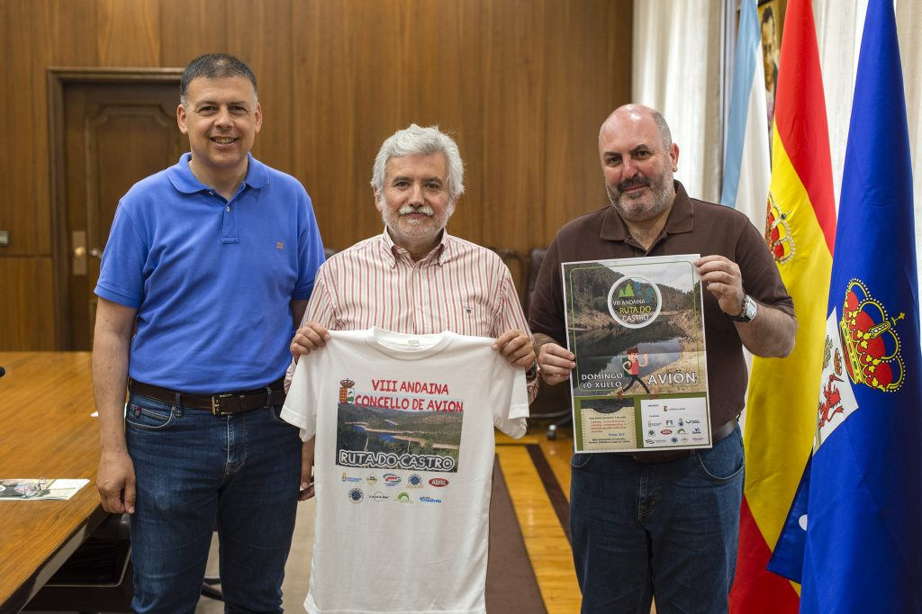 Bernardino González, Rosendo Fernández e Antonio Montero